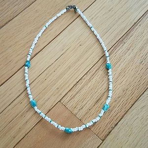 American Eagle stone and shell choker necklace